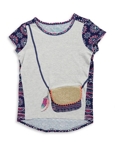 jessica simpson female girls 716 girls purse accented tee