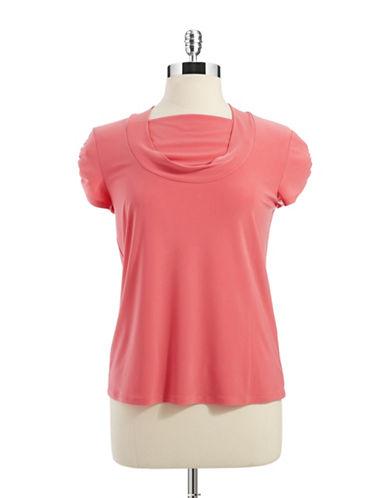 TAHARI ARTHUR S. LEVINEPlus Pintuck Short Sleeved Shirt