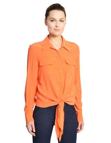 CATHERINE CATHERINE MALANDRINOLong-Sleeve Button-Down Blouse
