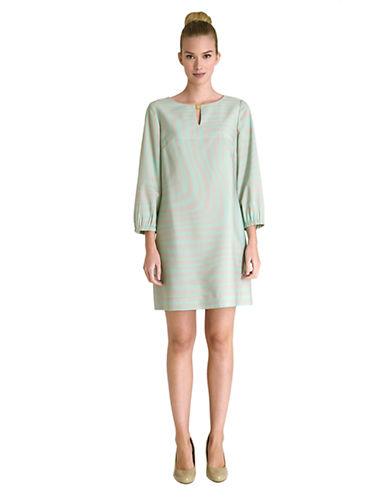 TAHARI ARTHUR S. LEVINEPlus Charlene Abstract Print Shift Dress