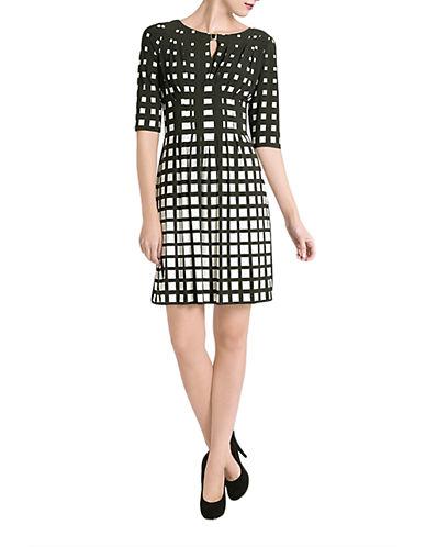 Shop Tahari Arthur S. Levine online and buy Tahari Arthur S. Levine Inverse Check Dress dress online