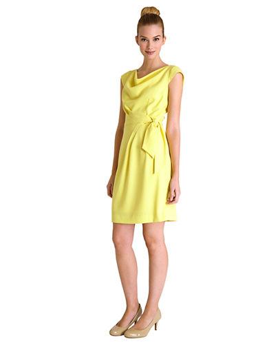TAHARI ARTHUR S. LEVINEPetite Angie Asymmetrical Belted Sheath Dress