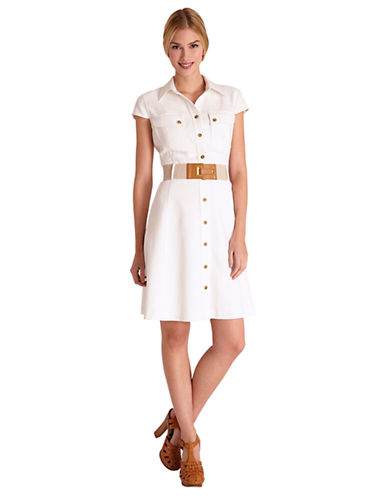 TAHARI ARTHUR S. LEVINEBelted Shirt Dress