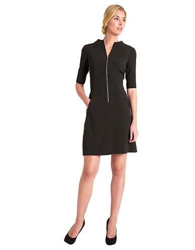 Shop Tahari Arthur S. Levine online and buy Tahari Arthur S. Levine Annie Lee Front Zip A Line Dress dress online