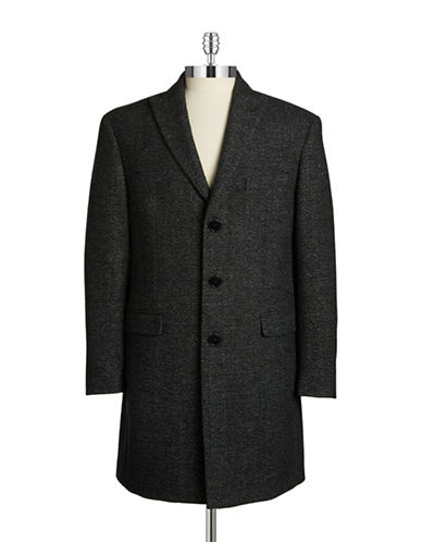 Calvin Klein Marled Wool-Blend Coat