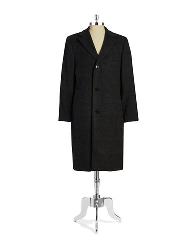 LAUREN RALPH LAUREN Plaid Wool-Blend Walking Coat