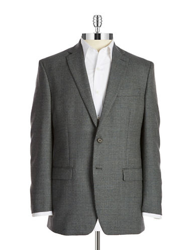 LAUREN RALPH LAUREN Two-Button Wool Blazer