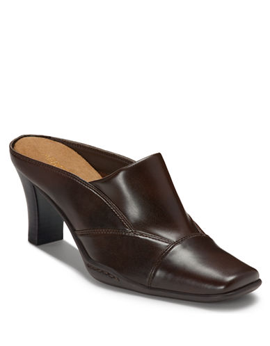 AEROSOLES Cincture Faux Leather Mules