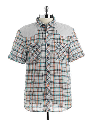 BUFFALO DAVID BITTONPlaid Linen Shirt