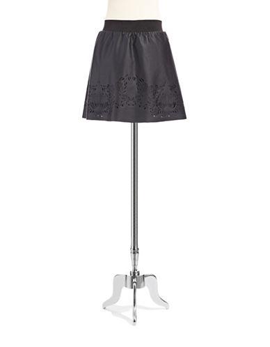 BUFFALO DAVID BITTONSkater Skirt with Patterned Cut Outs