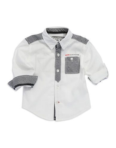 GUESSBoys 2-7 Stripe Accented Sport Shirt