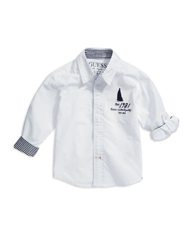 GUESSBoys 2-7 Sailboat Button-Down Shirt