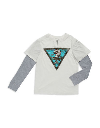 GUESSBoys 8-20 Graphic Faux Layered T Shirt