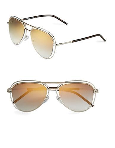 marc jacobs female 220183 54mm aviator sunglasses