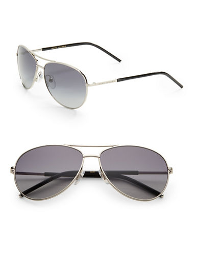 marc jacobs female 56mm aviator sunglasses