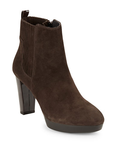 Buy Edina Suede Ankle Boots by Donald J. Pliner online