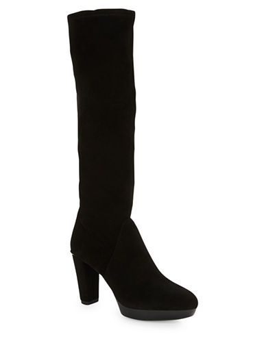 Buy Enisa Suede Knee-High Boots by Donald J. Pliner online