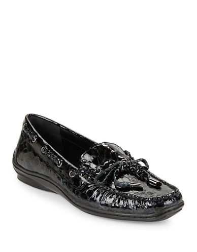 DONALD J. PLINERLacey Crocodile Embossed Loafers