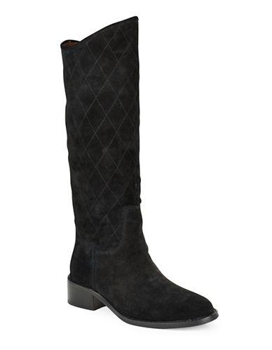 Buy Zena Quilted Suede Boots by Donald J. Pliner online