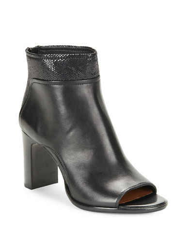 Buy Open Toe Leather Ankle Boots by Donald J. Pliner online
