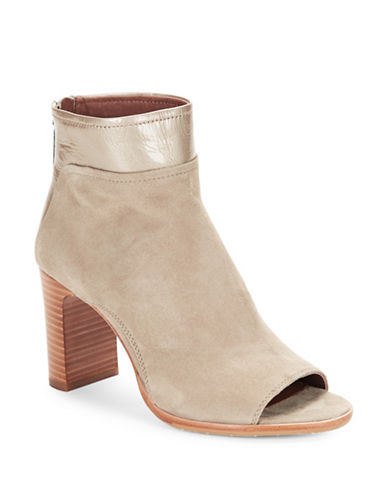 Buy Open Toe Suede Ankle Boots by Donald J. Pliner online
