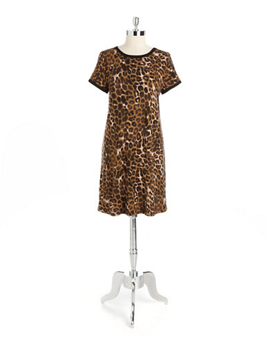 Shop Chelsea & Theodore online and buy Chelsea & Theodore Leopard Shift Dress dress online