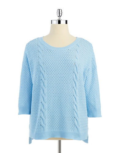 Grace Elements Plus Plus Three Quarter Sleeved Knit Sweater