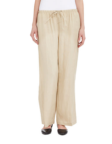 GRACE ELEMENTSLinen Drawstring Pants