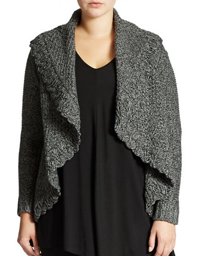 Grace Elements Plus Plus Shawl Collar Flyaway Cardigan