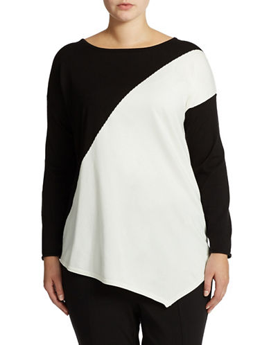 Grace Elements Plus Plus Diagonal Colorblock Top