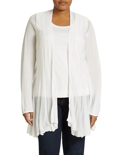 Grace Elements Plus Plus Semi Sheer Stripe Cardigan