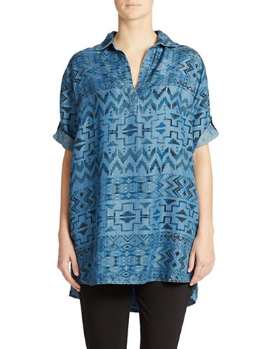 Grace Elements Plus Plus Printed Tencel Tunic