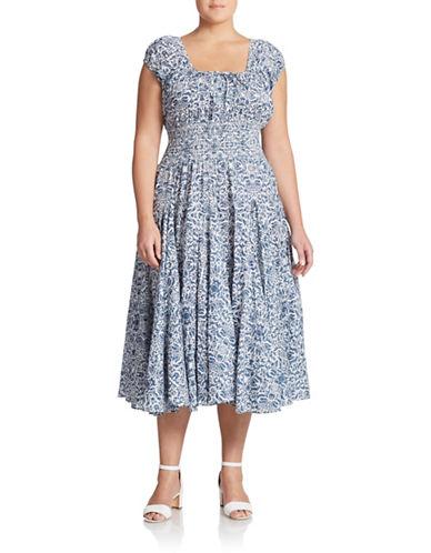 GRACE ELEMENTS PLUSPlus Peasant Fit-and-Flare Dress