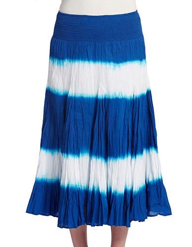 CONTEXTStriped Tie Dye Skirt