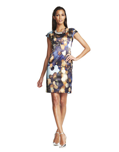Lafayette 148 Aquatic Watercolor Josette Dress