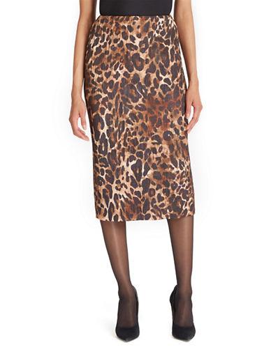 LAFAYETTE 148Priscilla Leopard Print Jacquard Pencil Skirt