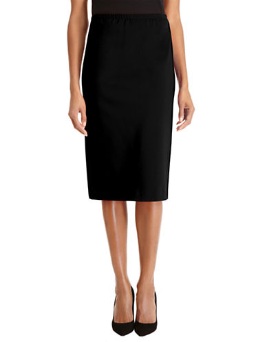LAFAYETTE 148 Pencil Skirt with Faux Leather Piping