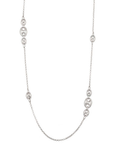 Lord & Taylor Sterling Silver Large Link Chain Necklace