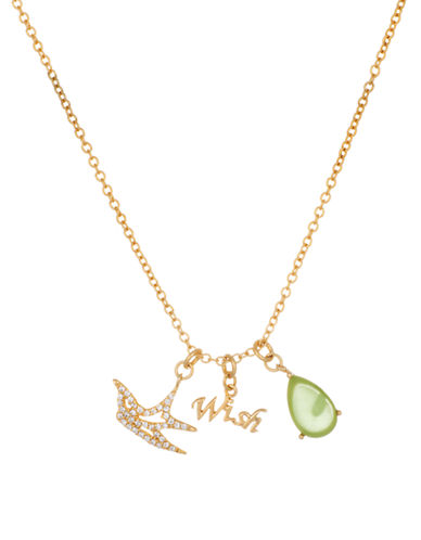 LORD & TAYLORGoldplated and Glitz Wish Charm Necklace