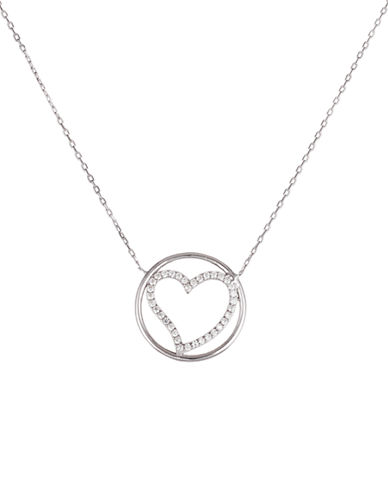LORD & TAYLORCubic Zirconia Sterling Silver Pendant Necklace