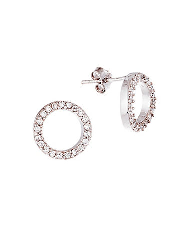 lord taylor female cubic zirconia circle stud earrings