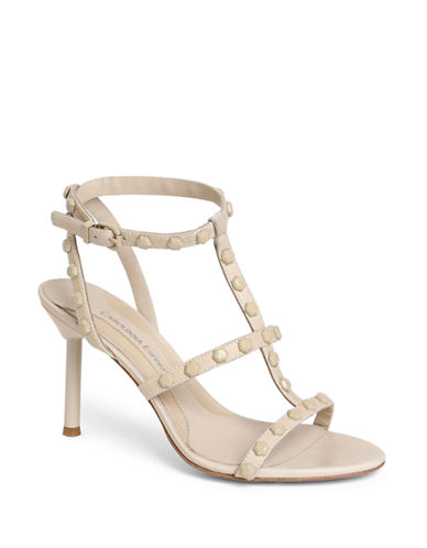 CAROLINNA ESPINOSAAxel High-Heel Leather Sandals
