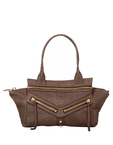 BOTKIER Trigger Python Embossed Leather Small Satchel