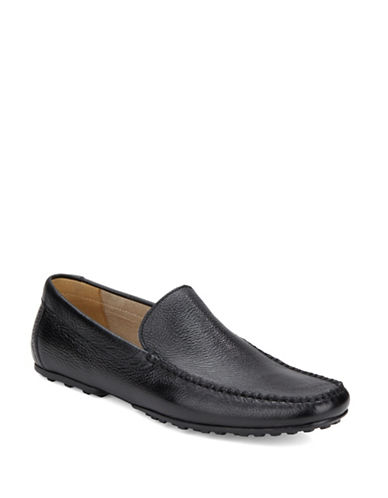 BLACK BROWN 1826Beamer Leather Loafers
