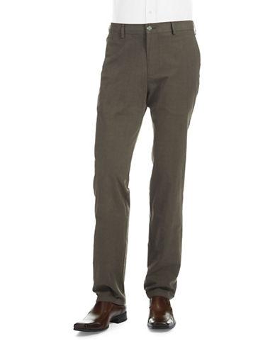 BLACK BROWN 1826Slim Fit Patterned Dress Pants