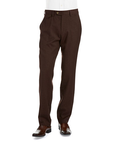 BLACK BROWN 1826 Wool Dress Pants