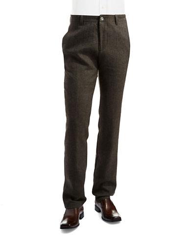BLACK BROWN 1826Wool Herringbone Pants