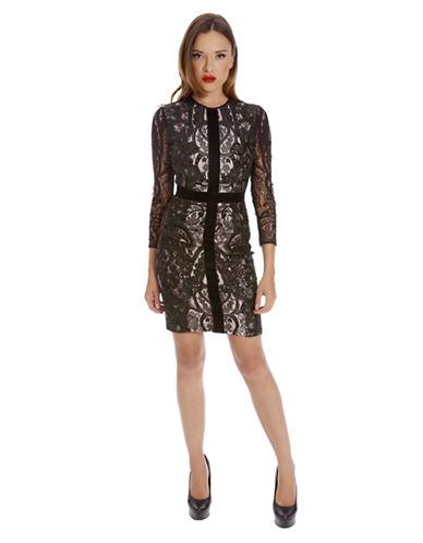 ALEXIA ADMORBanded Lace Dress