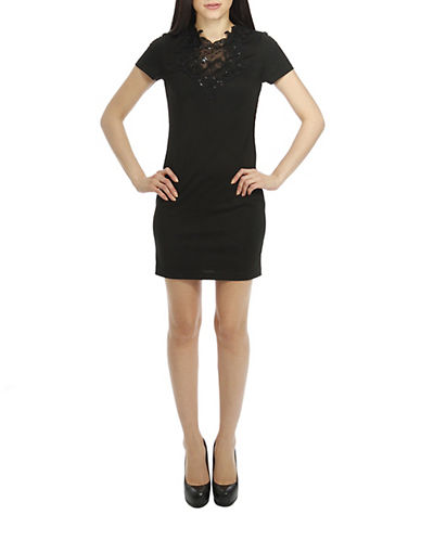 ALEXIA ADMORSequin Accented Shift Dress