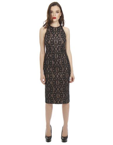 ALEXIA ADMORFloral Lace Sheath Dress